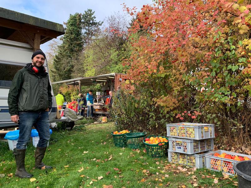 Apfelfest 2019 in Lage: Rund zwei Tonnen Obst werden zu Saft