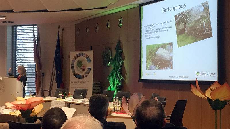 Birgit Reher vom BUND auf der 1. Lippischen Artenschutzkonferenz