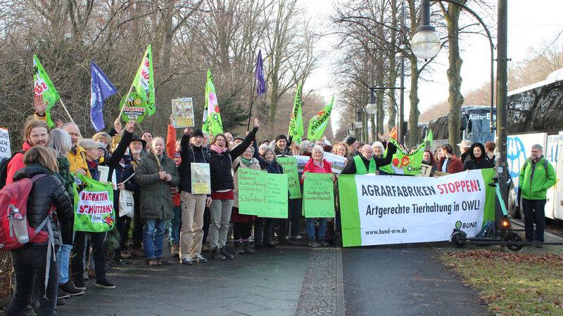 """Viele Lipper zur Demo """"Wir haben es satt"""" in Berlin 2020"""