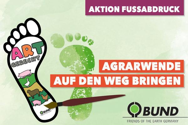 Aktion Fußabdruck - den Protest in Berlin unterstützen